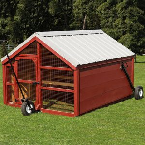 8x12 Chicken Run Black Bear Outdoor Structures