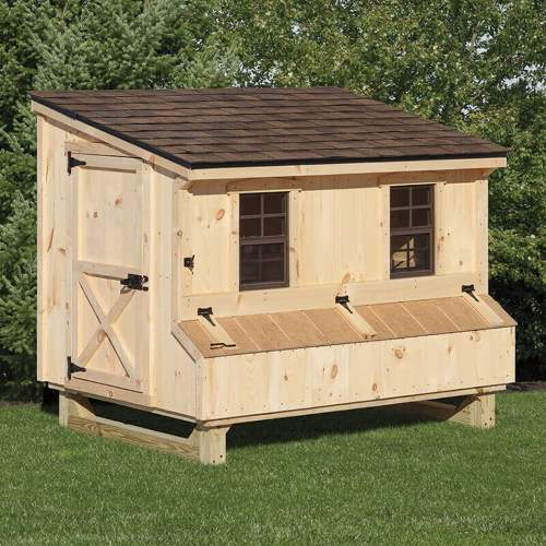 4x6 Lean-to Style Coop