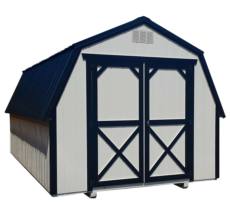 8x12 Painted Barn Shed - Black Bear Outdoor Structures