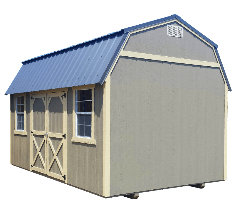 10x14 Painted Lofted Barn Shed - Black Bear Outdoor Structures