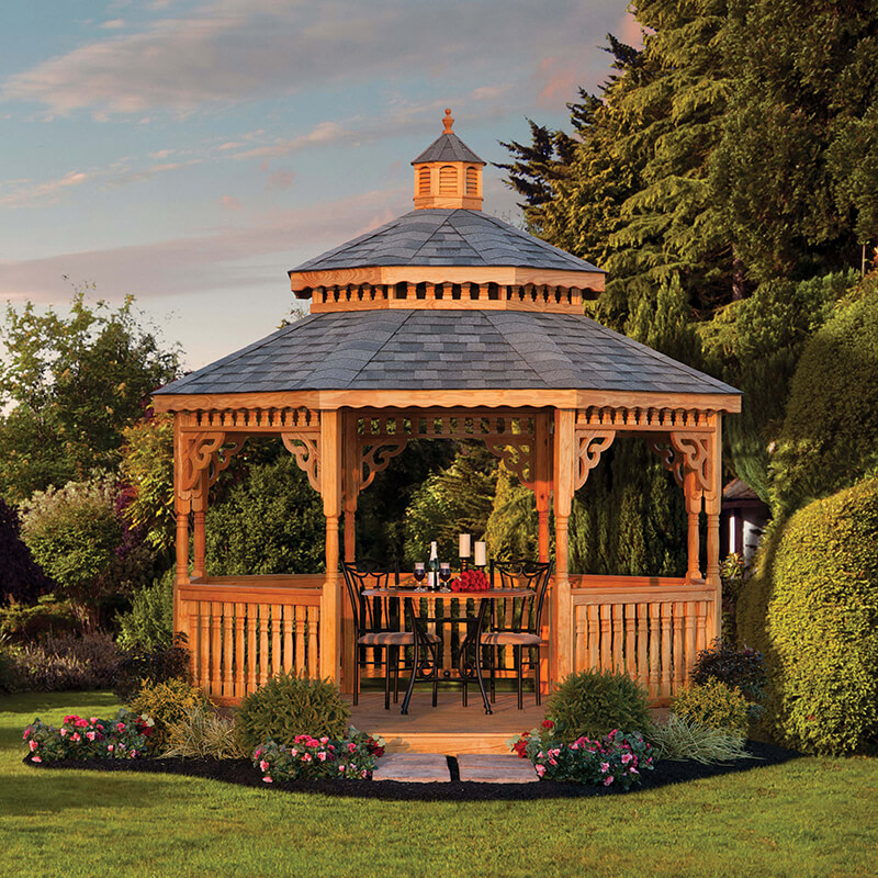 12 Foot Cedar Octagon Gazebo - Black Bear Outdoor Structures