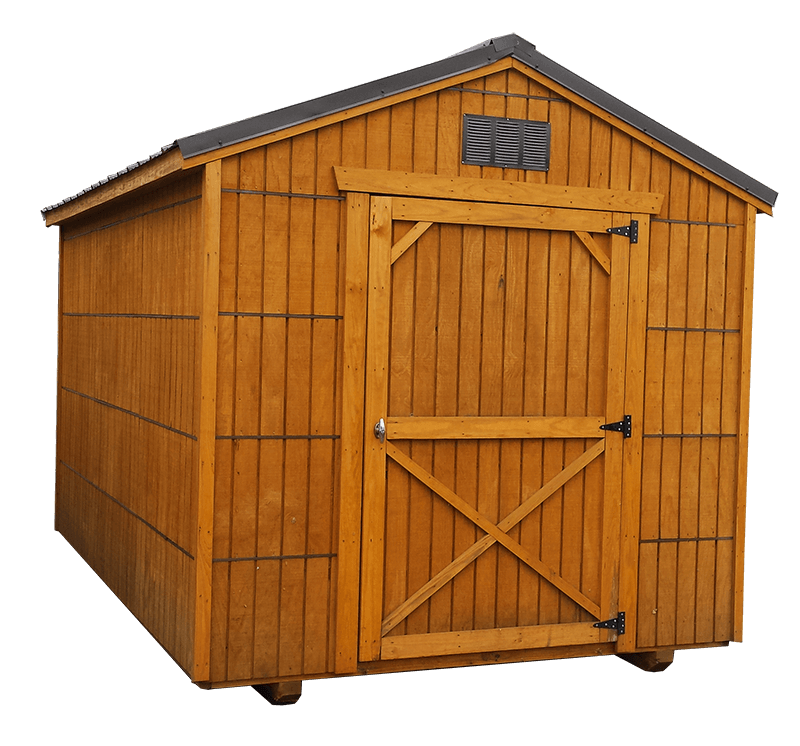 8x10 Econony Utility Shed - Black Bear Outdoor Structures