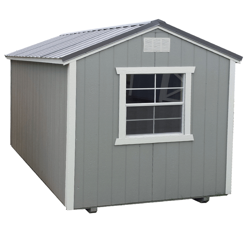 8x14 Painted Utility Shed - Black Bear Outdoor Structures
