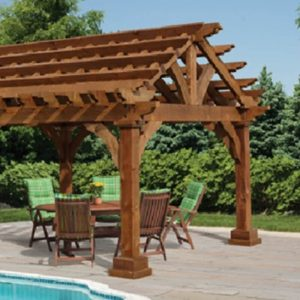 Cedar Grand Escape Pergola - Black Bear Outdoor Structures