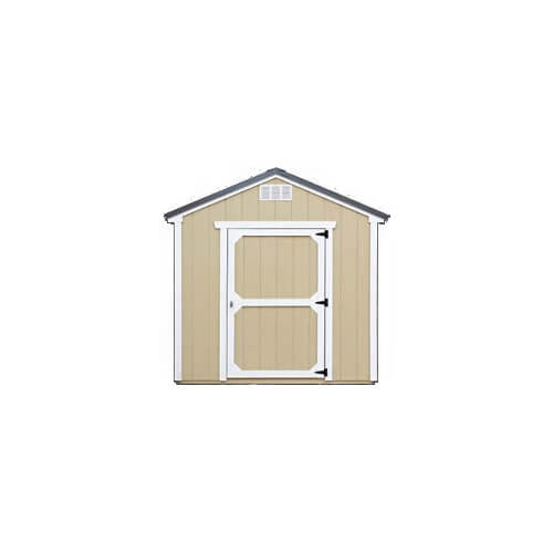 Painted Beige with Barn White Trim on Duratemp Siding